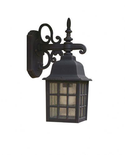 Norfolk 1-light Black Double Insulated Outdoor Wall Light (Class 2 Double Insulated) BXNOR1522-17